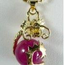 Mei red jade dragon pendant necklaces (P144)