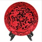 Beijing characteristics QiDiao handicraft furnishing articles * 400 mm ssangyong plate (2)