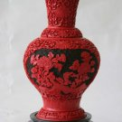 New house Beijing carved lacquer vase carved lacquer vase spring (P1)