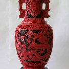 New house Beijing carved lacquer vase carved lacquer vase bottle tick Red Dragon (P2)