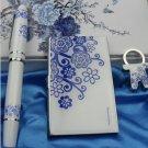 Blue blue pen suit card case of key blue three-piece suit (A331)