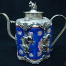 Wonderful Tribal old tibet silver sculpture TeaPot