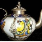Beautiful Tibet Silver White porcelain cloisonne teaPot