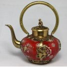 CHINESE HANDWORK OLD PORCELAIN PORTABLE TEA POT(4339)