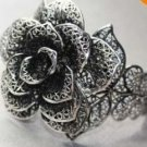 Charm Blooming Rose Miao Silver Bracelet(B3342)