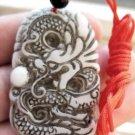 Old jade auspicious dragon amulet pendant