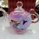The beauty of the manual painting bottle inside the painting of the teapot (flowers and birds)