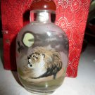 Delicate glass draw snuff box (the lion)