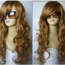NEW long red curly women's full wigs