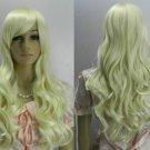 New fashion women's long wavy golden hair wig