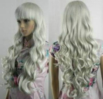 The new long hair completely gray wig