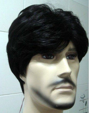 Color # 2 COSPLAY new short black wig the whole man