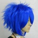The new blue short straight full wig