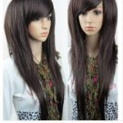 New women's fashion women's long brown WIG / wigs V129