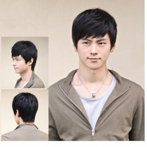Black men's Wear Daily, the new cool animation short role-playing party hair wig FW47