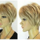 Free shipping The new Vogue short BLONDE color lady's wig