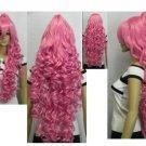 Beautiful pink long hair wig split + COSPLAY WIG Section