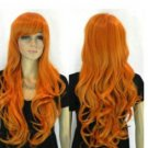 Fashion beautiful new long-wave women's orange wig / wigs