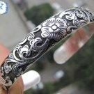 Beautiful Tibet Silver Totem Bangle Cuff Bracelet