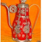 Delicate red porcelain teapot China Tibet-handicraft (B201)