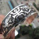 The beauty of the Tibet silver bracelet cuff bracelet figure tenglong (k7)