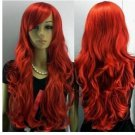 The new fashion long red curls woman wig