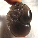 Natural anti-ice kind of evil villain dragon pendant obsidian gourd