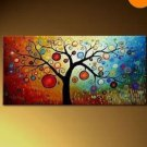 Modern abstract huge canvas painting art + frame