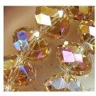 70pcs champagne AB Swarovski Crystal Loose Beads, 8x6mm