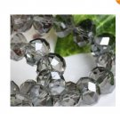 70pcs Gray Swarovski Crystal Loose Bead 6x8mm