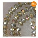 100pc Gray Multicolor Swarovski Crystal Bead 6x4mm