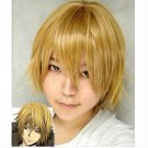New Stylish Short gold blonde cosplay party Wig