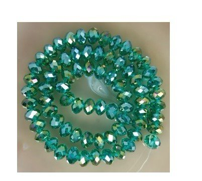 70pcs Green Swarovski Crystal Gemstone Loose Bead 6X8mm