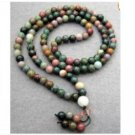 108 Jade Beads Tibetan Buddhist Prayer Mala Necklace
