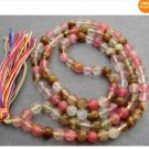 108 Watermelon Stone Beads Buddhist Prayer Mala Necklac