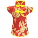 Classic fashion embroidered cheongsam bottle sets new retro ornaments home acces