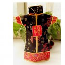Chinese home costume Kam silk bottle red wine sets 2PCS