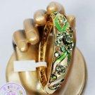 However bracelet cloisonne bracelet craft gift bracelet (green)