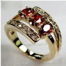 Brand New ruby lady's 10KT yellow Gold Filled Ring size 8