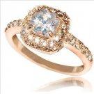 Swarovski crystal ring elements of female money super high flash