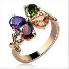 Swarovski crystal ring of female money claddaugh rotates inside a traditionally-designed box