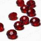70pcs Red Cut Swarovski Crystal Rondelle Beads 8mm