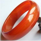 Wider thick and pattern jade/agate bracelet 162 (orange)