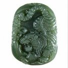 Hotan jade Tigers talisman necklace pendants