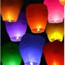 20 PC Cylinder Sky Chinese Lanterns wish for Xmas Party Wedding Birthday Hot