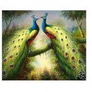 Handicrafts Repro oil painting:Beautiful peacock 24x36""