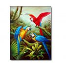 "Handicrafts Art Repro oil painting:""Parrot In canvas"" 24x36"