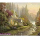 "Art Repro oil painting:""Foothill Forest Chapel"" 24x36"""