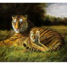 Handicrafts Art Repro oil painting:Tiger In canvas 24x36""