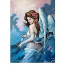 "Handicrafts Repro oil painting:""Girl angel on canvas"""